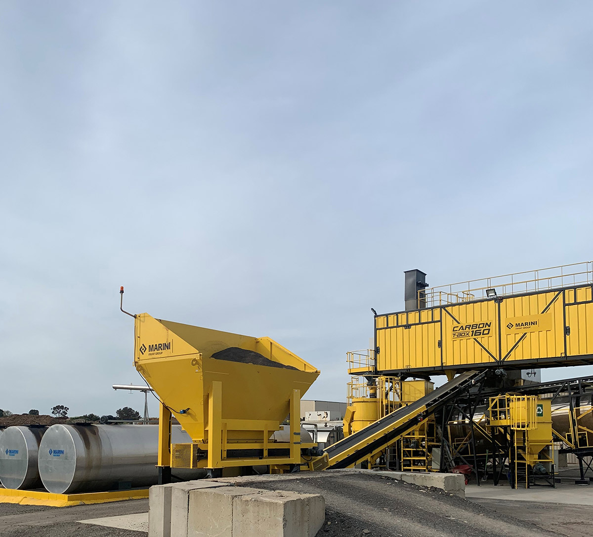 RAP feeder bin at Adelaide asphalt plant