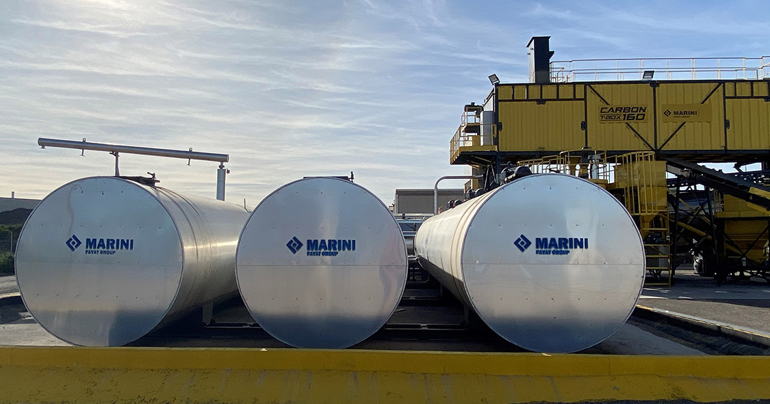 Bitumen Silos at asphalt plant