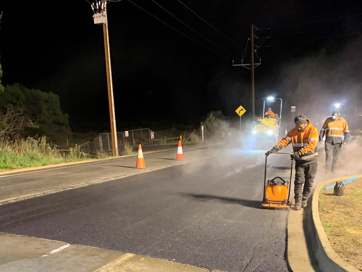 Deeplift pavement asphalt project