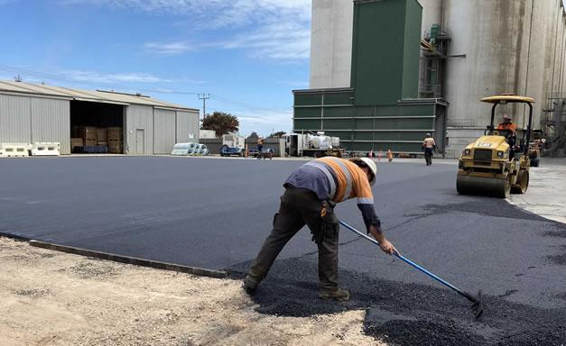 Commercial asphalt laying in Port Adelaide