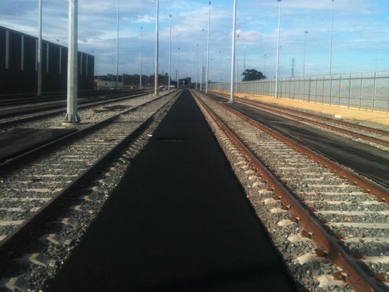 Railway asphalt strips in Adelaide
